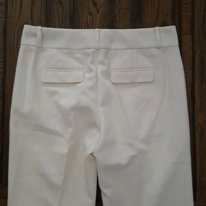 Banana Republic Pants - Banana Republic Martin Fit White Wide Leg Trouser